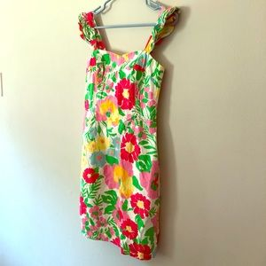 Lilly Pulitzer 🐜 on parade floral flutter dress